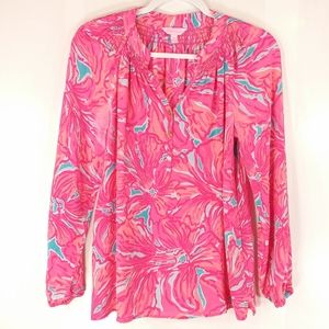 Lilly Pulitzer Women's Multicolor Silk Blouse - Sm